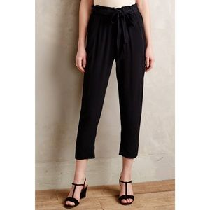 Anthropologie Tie Waist Paperbag Pants - Size L